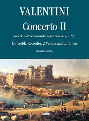 Robert Valentine - Concerto 2 – flauto, 2 violini e bc - Partition - di-arezzo.fr