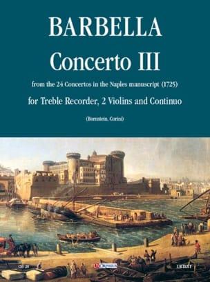 Francesco Barbella - Concerto 3 - flauto, 2 violini e bc - Sheet Music - di-arezzo.co.uk