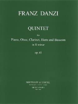 Franz Danzi - Quintet d minor op. 41 -Piano oboe clarinet cor et basson - Partition - di-arezzo.fr