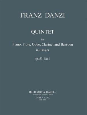 Quintet in F major op. 53 n° 1 - Piano flute oboe clarinet bassoon laflutedepan