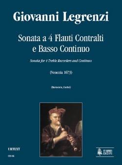 Sonata a 4 flauti contralti e Bc Giovanni Legrenzi laflutedepan