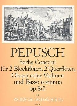 6 Concerti op. 8 : Nr. 2 -2 Blockflöten 2 Flöten u. BC laflutedepan