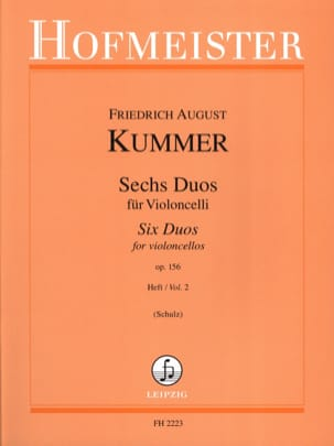 Friedrich-August Kummer - 6 Duos op。 156巻、第2巻 - 楽譜 - di-arezzo.jp