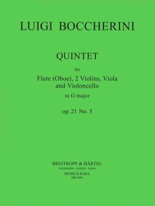 Quintet G major op. 21 n° 5 Parts - Flute oboe strings laflutedepan