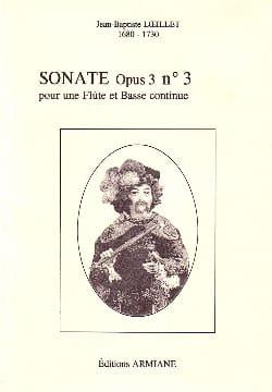 Jean-Baptiste Loeillet - Sonate Opus 3 N° 3 - Partition - di-arezzo.fr