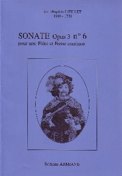 Sonate Op. 3 N° 6 - LOEILLET - Partition - laflutedepan.com