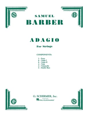 Samuel Barber - Adagio For Strings - Complete Set - Sheet Music - di-arezzo.co.uk