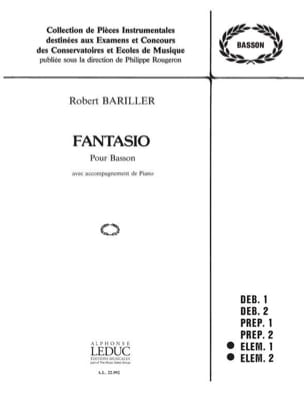 Fantasio Robert Bariller Partition Basson - laflutedepan