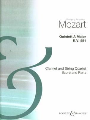 Quintette en la Majeur KV 581 - Clarinet String quartet - Score + parts laflutedepan
