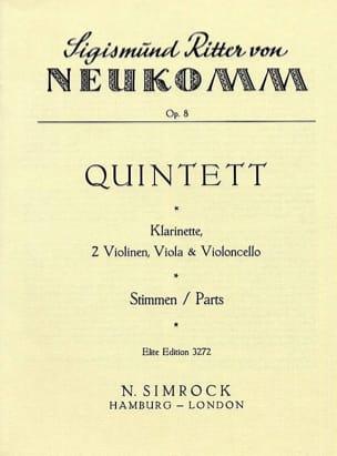 Sigismund Ritter von Neukomm - Quintett op. 8 -Stimmen - Partition - di-arezzo.fr