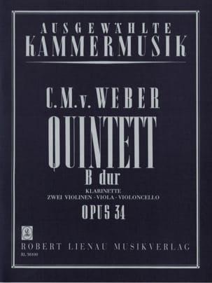 Carl Maria von Weber - Quintett B-Dur op. 34 - Klarinette Streichquartett - Noten - di-arezzo.de