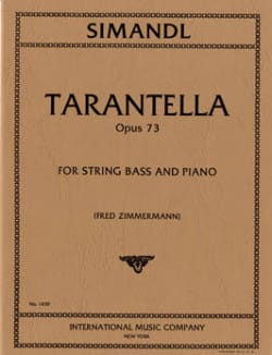Franz Simandl - Tarantella op. 73 - Partition - di-arezzo.fr