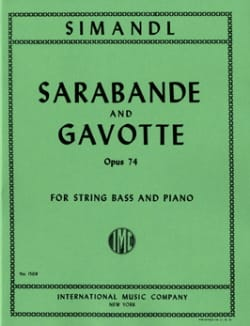 Franz Simandl - Sarabande and Gavotte op. 74 - Sheet Music - di-arezzo.co.uk