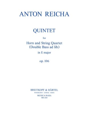 Quintet In E Maj. Mi M., Op. 106 - Cor-Quatuor A Cordes laflutedepan