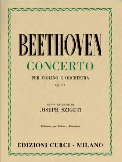Ludwig van Beethoven - Concerto pour Violon op. 61 - Partition - di-arezzo.fr