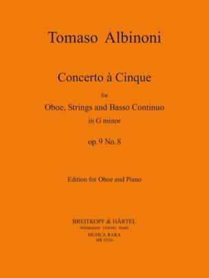 Tomaso Albinoni - Concerto a 5, op. 9 n ° 8 - Oboe piano - Sheet Music - di-arezzo.com