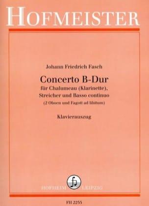 Johann Friedrich Fasch - Concerto B-Dur – Chalumeau (Klarinette) Klavier - Partition - di-arezzo.fr