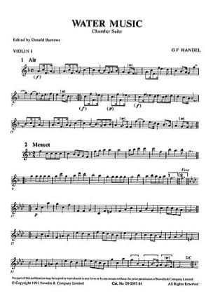 Water Music, Chamber suite - Score - HAENDEL - laflutedepan.com