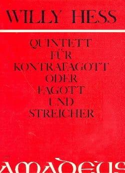 Willy Hess - Quintett - Kontrafagott o. Fagott u. Streicher - Partitura - di-arezzo.es