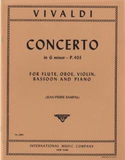 Concerto G minor P. 403 - Flute oboe violin bassoon piano - laflutedepan.com