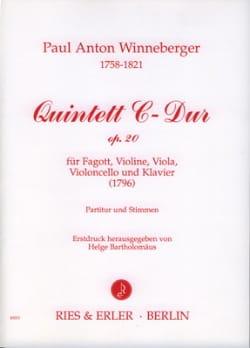 Quintett C-Dur op. 20 -Partitur + Stimmen - laflutedepan.com