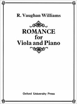 Williams Ralph Vaughan - Romance - piano alto - Sheet Music - di-arezzo.com