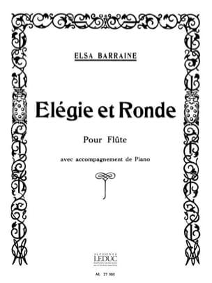 Elsa Barraine - Elegie et Ronde - Partition - di-arezzo.fr