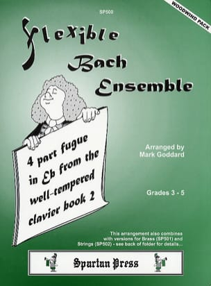 Bach Johann Sebastian / Goddard Mark - 4 Part fugue in Eb major - Woodwind flexible ensemble - Partition - di-arezzo.fr
