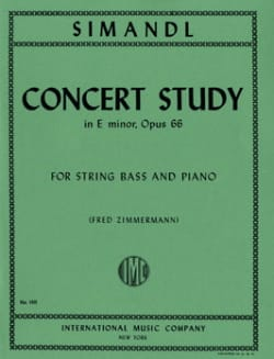Franz Simandl - Concert Study in E minor, op. 66 - Sheet Music - di-arezzo.co.uk