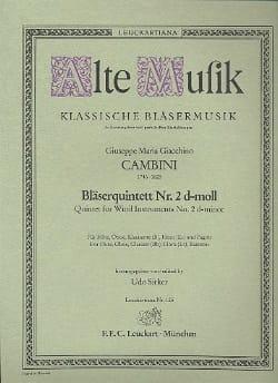 Giuseppe Maria Cambini - Bläserquintett Nr. 2 d-moll –Stimmen - Partition - di-arezzo.fr