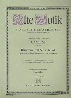 Bläserquintett Nr. 2 d-moll -Stimmen laflutedepan