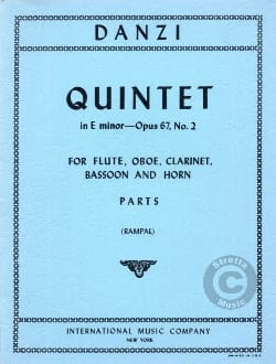 Quintet in E minor op. 67 n° 2 – Parts - laflutedepan.com