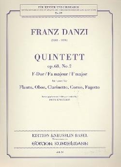 Quintett F-Dur op. 68 Nr. 2 -Stimmen Franz Danzi laflutedepan