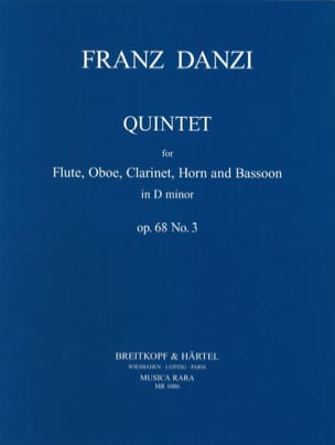 Quintet D minor op. 68 n° 3 - Parts Franz Danzi Partition laflutedepan