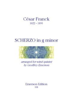 César Franck - Scherzo in G minor - Wind quintet - Parts - Partition - di-arezzo.fr