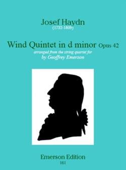 Wind quinet in d minor op. 42 -Stimmen HAYDN Partition laflutedepan