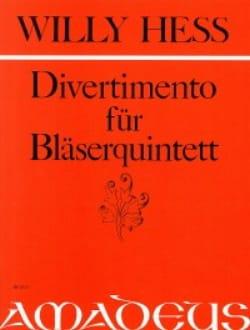 Willy Hess - Divertimento für Bläserquintett – Stimmen - Partition - di-arezzo.fr