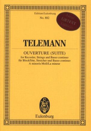 TELEMANN - Ouverture Suite en la Min. - Partition - di-arezzo.fr