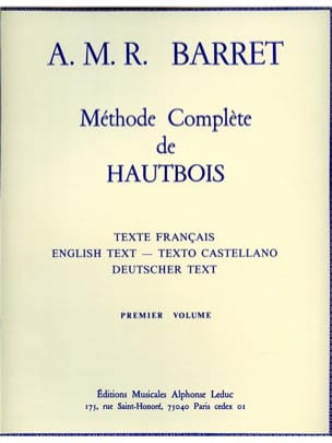 A. M. R. Barret - Complete oboe method - Volume 1 - Sheet Music - di-arezzo.co.uk
