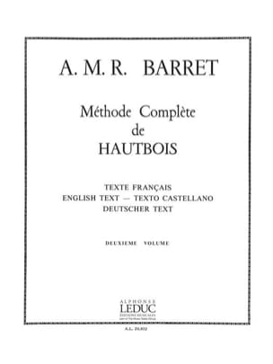 A. M. R. Barret - Complete oboe method - Volume 2 - Sheet Music - di-arezzo.co.uk