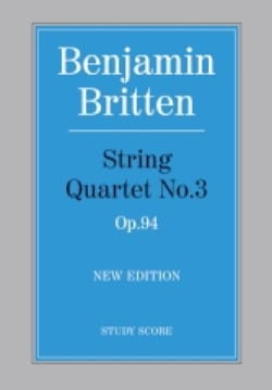 Benjamin Britten - String quartet n ° 3 op. 94 - Score - Sheet Music - di-arezzo.co.uk