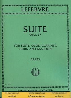 Charles Edouard Lefebvre - Suite op. 57 – Parts - Partition - di-arezzo.fr
