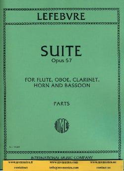 Charles Edouard Lefebvre - Suite op. 57 -Parts - Partition - di-arezzo.fr