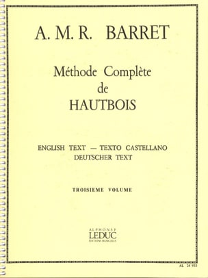 A. M. R. Barret - Complete Method of Oboe Volume 3 - Sheet Music - di-arezzo.co.uk