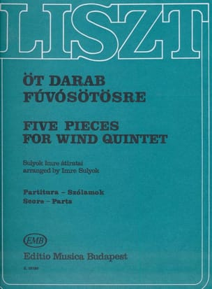 5 Pieces for Wind quintet LISZT Partition Quintettes - laflutedepan
