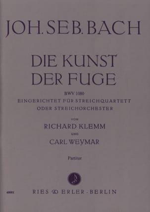 BACH - Die Kunst der Fuge - Streichquartett o. Streichorch. - Partitur - Partition - di-arezzo.fr
