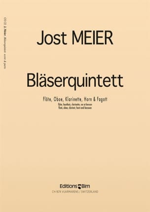 Jost Meier - Bläserquintett (1967) – Partitur + Stimmen - Partition - di-arezzo.fr