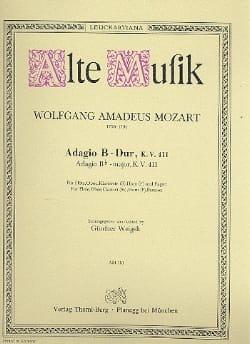 Adagio B-Dur KV 411 –Bläserquintett - Stimmen - laflutedepan.com