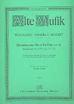 Divertimento Nr. 12 Es-Dur KV 252 -Bläserquintett - Stimmen - laflutedepan.com