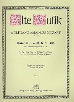 Wolfgang Amadeus Mozart - Quintett c-moll KV 406 –Bläserquintett - Stimmen - Partition - di-arezzo.fr